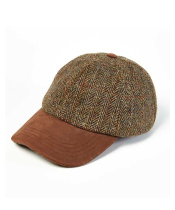 Peaked Cap - Green/Brown