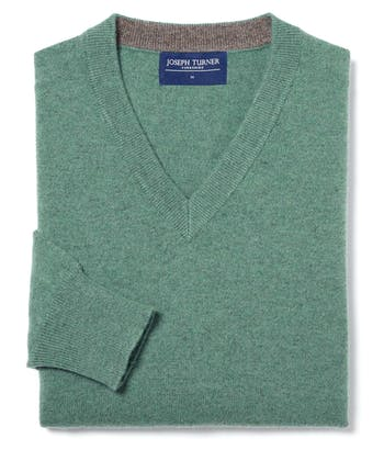 Cashmere V-Neck - Green