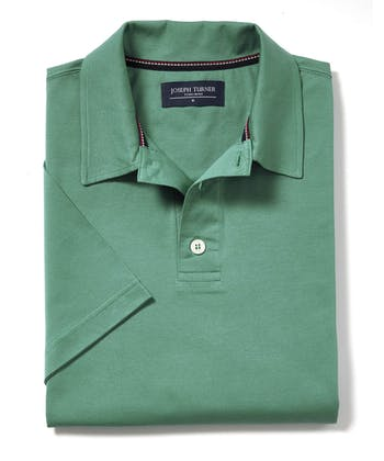 Mercerised Polo Shirt - Green