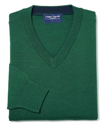 Merino Jumper - V Neck - Holly