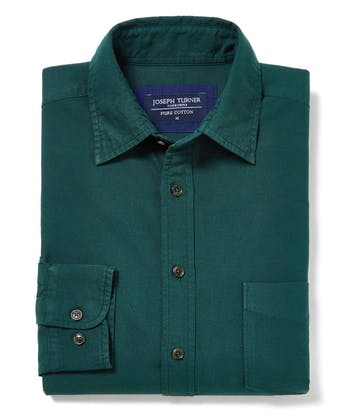 Plain Oxford Shirt - Dark Green