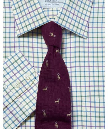 Green/Purple/Blue Country Check