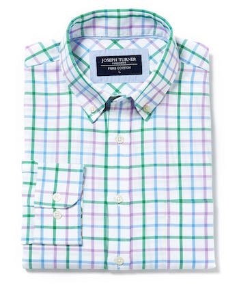 Button-Down Oxford Shirt - Green/Purple