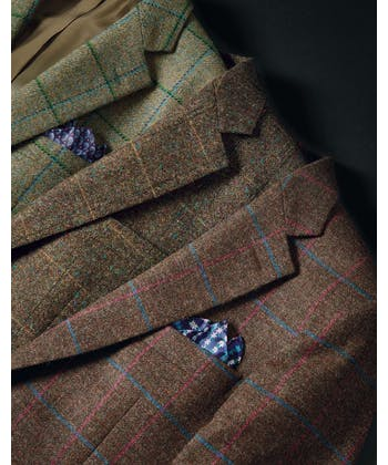 Tweed Jacket - Green Windowpane