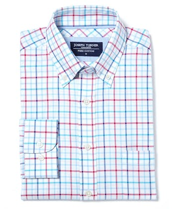 Button-Down Oxford Shirt - Magenta/Blue