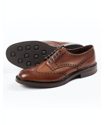 Badminton Calf Full Brogue Shoe - Mahogany