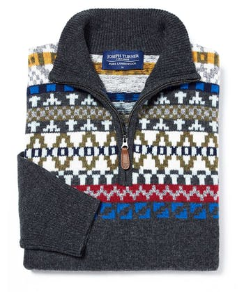 Fair Isle Half-Zip - Multicolour