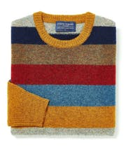 Shetland Jumper - Striped Crew Neck