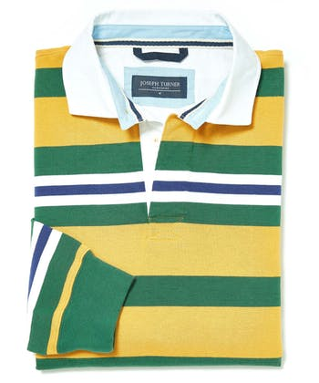 Rugby Shirt - Mustard/Green