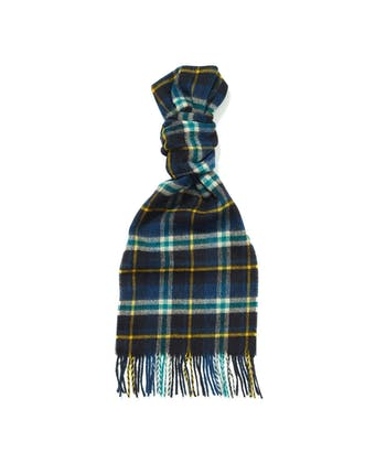 Lambswool Scarf - Navy/Blue