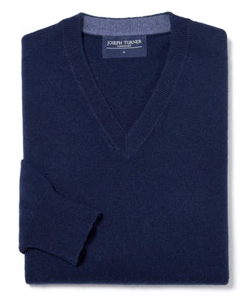 Cashmere V-Neck - Navy