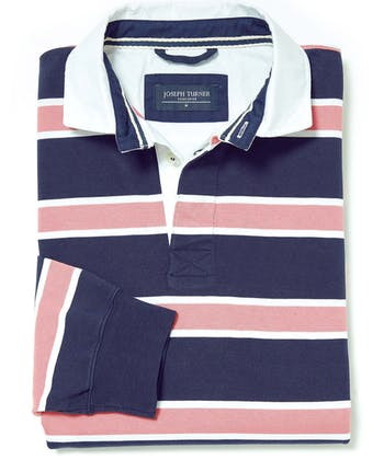 Rugby Shirt - Navy/Dusty Pink