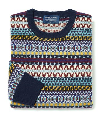 Fair Isle Jumper - Navy