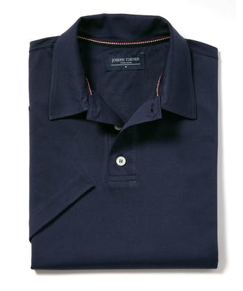 Mercerised Polo Shirt - Navy