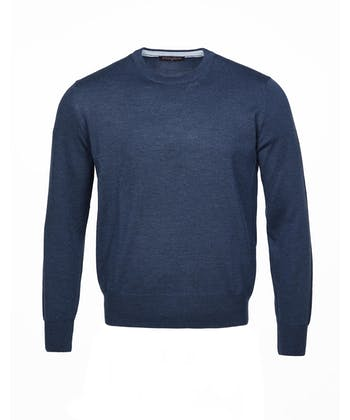Merino Jumper - Crew Neck - Navy