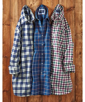 Brushed Cotton Check Shirt - Navy/Sky/Green