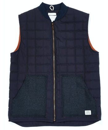 Quilted Gilet - Navy