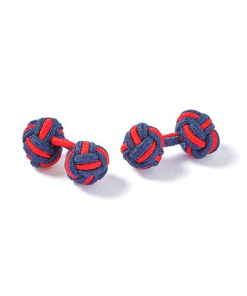 Navy/Red Silk Knots