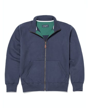 Full-Zip Jersey Sweatshirt - Navy