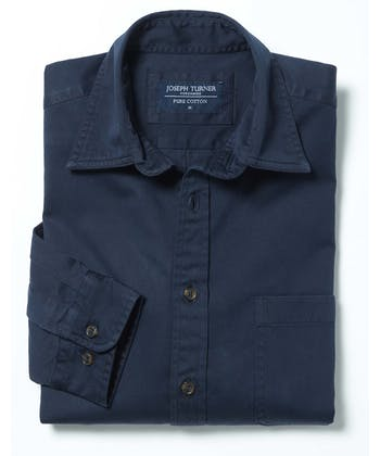 Cotton Twill Shirt - Navy