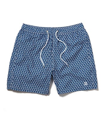 Swimming Trunks - Navy Wave
