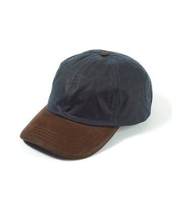 Peaked Cap - Navy Waxed Cotton