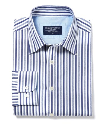 Casual Stripe Shirt - Navy/White