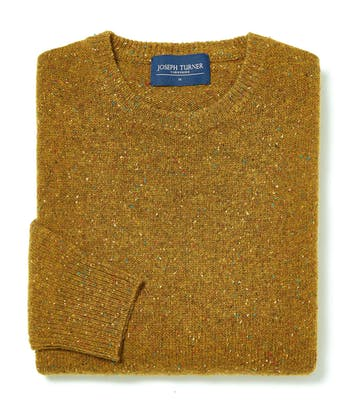 Donegal Jumper - Crew Neck - Ochre
