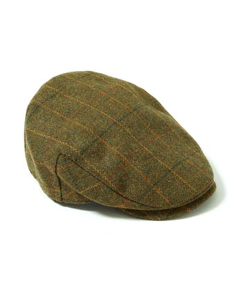 Flat Cap - Olive/Orange Waterproof