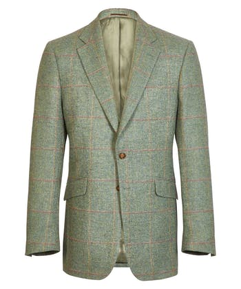 Tweed Jacket - Orange/Gold/Lilac