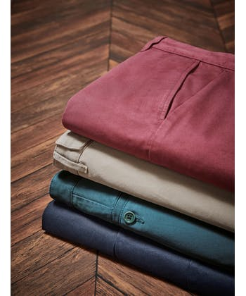 Pleated Front Chinos - Port