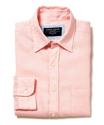 Linen Shirt - Long Sleeve - Pink