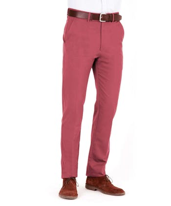 Flat Front Chinos - Port