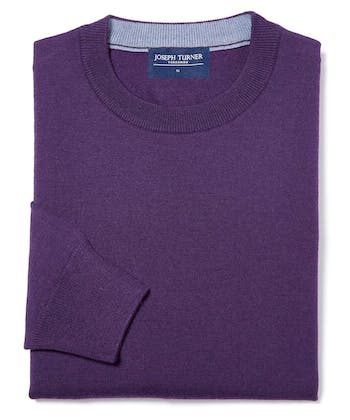 Merino Jumper - Crew Neck - Purple