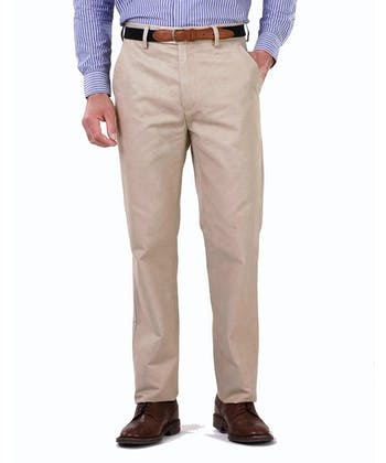 Flat Front Chinos - Putty
