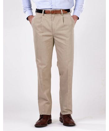 Pleated Front Chinos - Putty