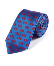 Red Bikes on Colbalt - Woven Silk Tie