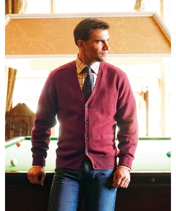 Lambswool - Cardigan - Red