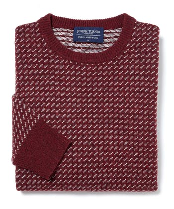 Nordic Crew Neck Jumper - Red