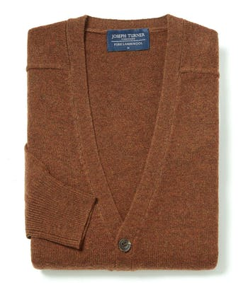 Lambswool - Cardigan - Rust
