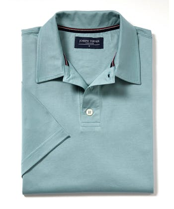 Mercerised Polo Shirt - Sea Mist