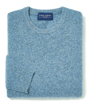 Donegal Jumper - Crew Neck - Sky