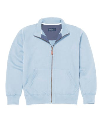Full-Zip Jersey Sweatshirt - Sky