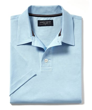 Mercerised Polo Shirt - Sky
