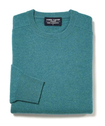 Lambswool Jumper - Crew Neck - Teal