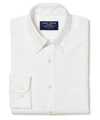 Staithes Button-Down Shirt - White