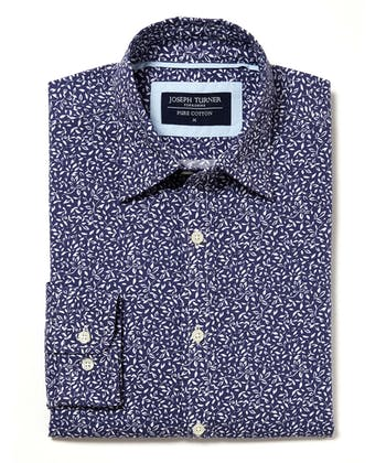 Cotton Print Shirt - White Vine