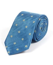 Yorkshire Roses on Blue - Woven Silk Tie